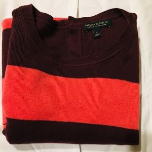 Banana Republic Cotton & Cashmere  striped Sweater